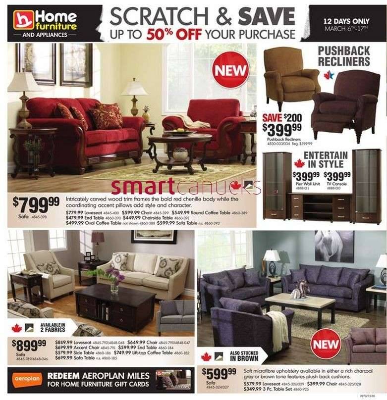 Home furniture flyer mar 6 to 17 for P s furniture flyer