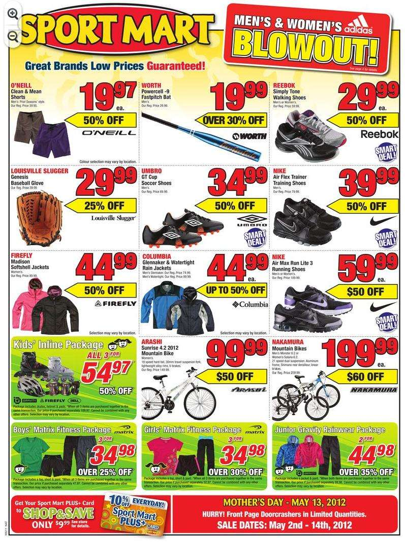 Looking for Sport Mart deals? Find the latest deals, coupons and flyers from Sport Mart on tiucalttoppey.gq - Helping Canadians save money and time!
