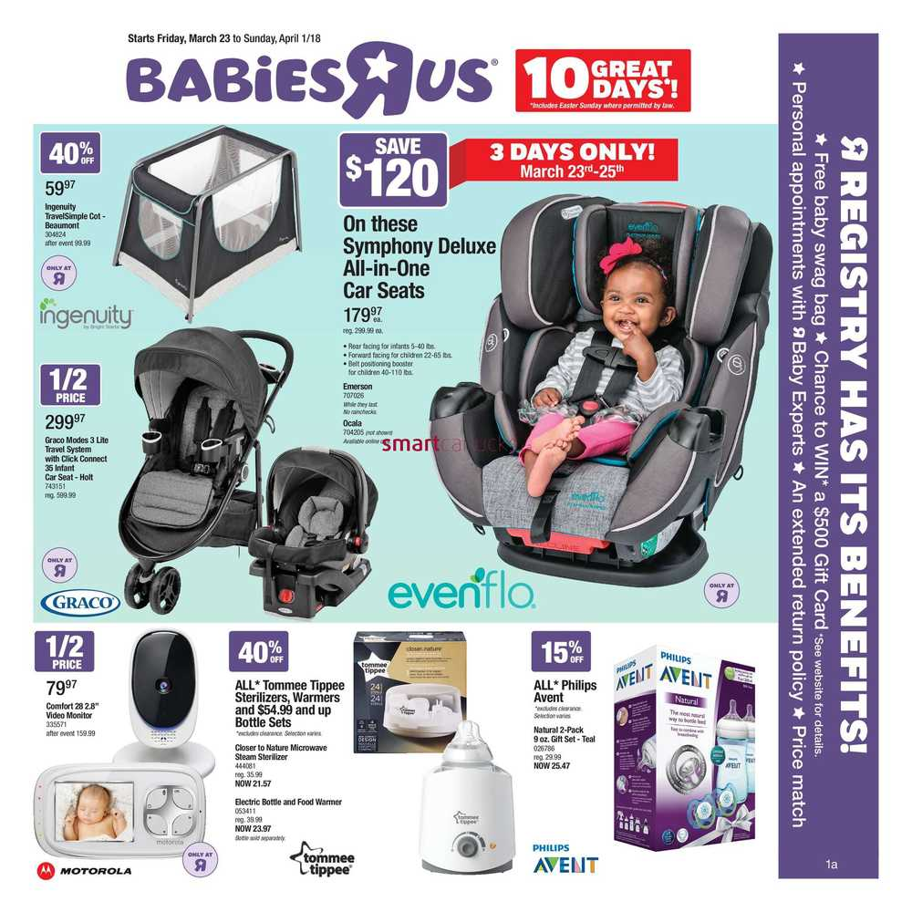 Babies R Us Flyer March 23 to April 1
