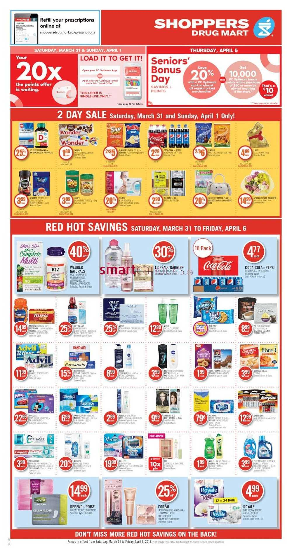 Shoppers Drug Mart (ON) Flyer March 31 to April 6