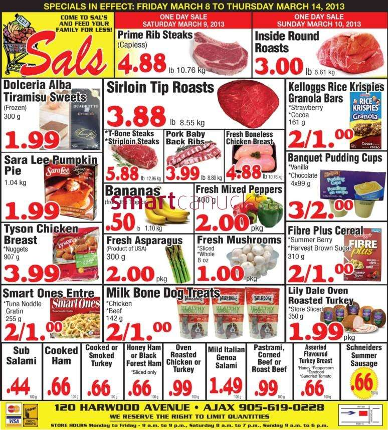 Sal's Grocery flyer Mar 8 to 14