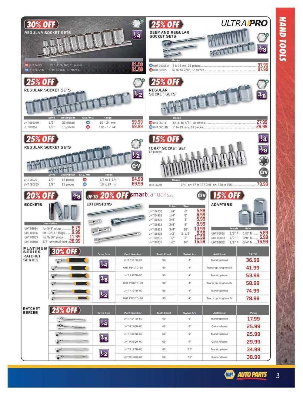 NAPA Auto Parts Real Deals Catalogue May 1 to June 30