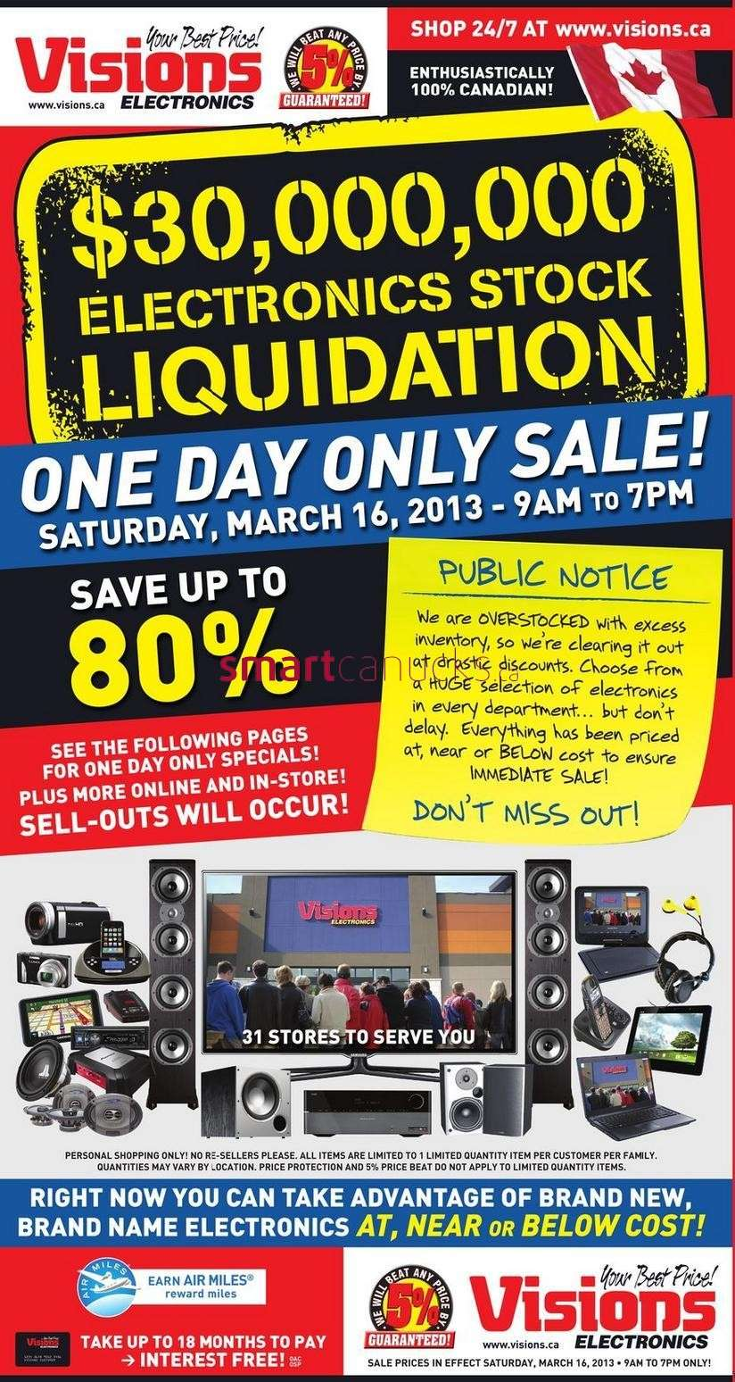 Visions Electronics 1-Day Sale Flyer Mar 16