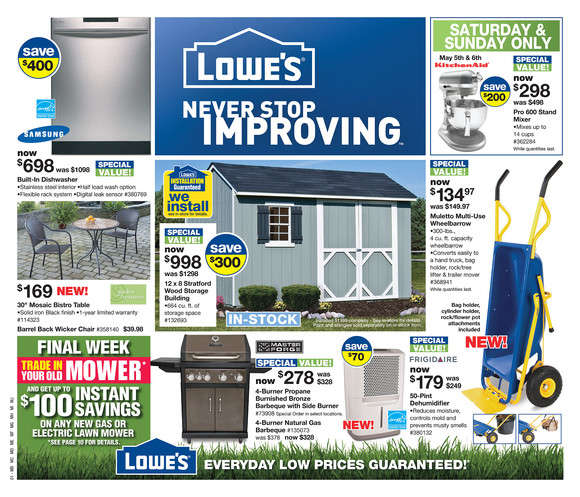 Lowe's flyer May 3 to 9