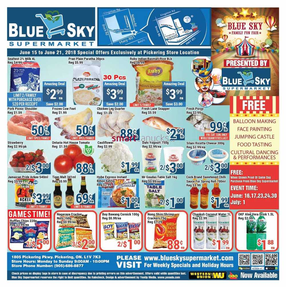 Blue Sky Supermarket Canada Flyers