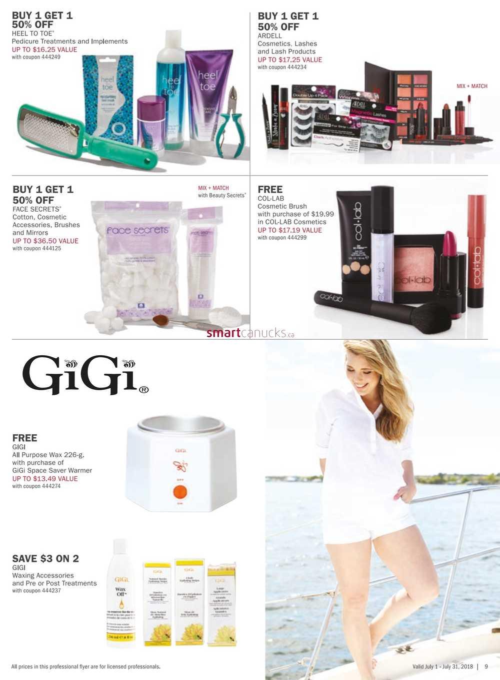 Sally Beauty Supply Pro Flyer July 1 to 31