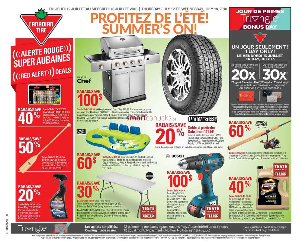 - Canadian Tire (QC) Flyer July 12 To 18
