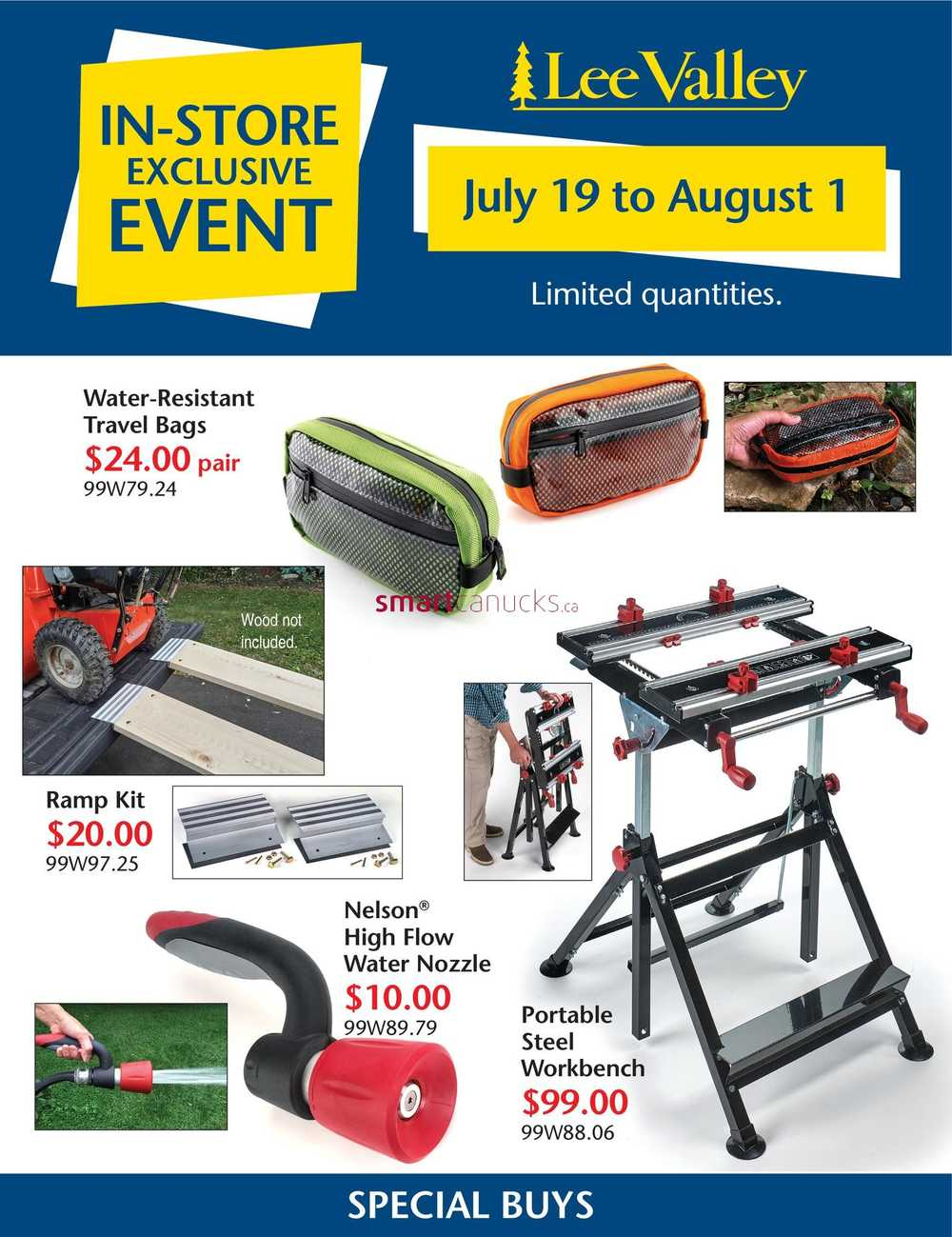 bdebdcfdcc Lee Valley Tools Flyer July 19 to August 1