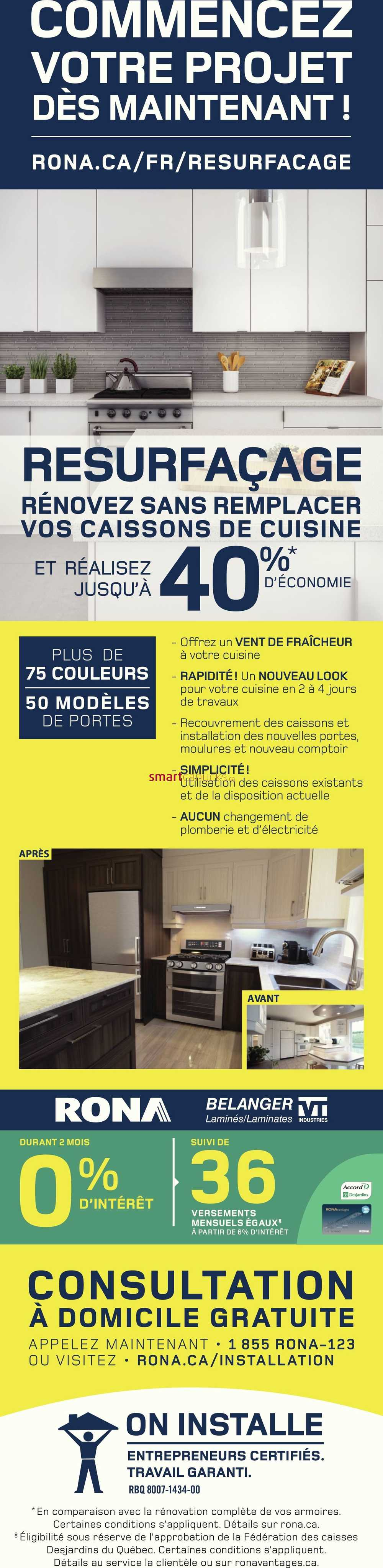Carte Rona Accord D.Rona Qc Flyer July 19 To 25