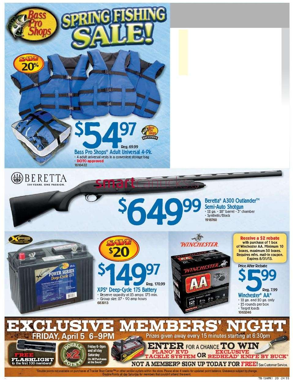 bass pro shops spring fishing sale flyer apr 1 to 14