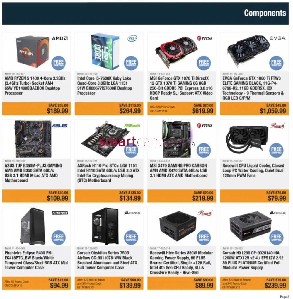 Newegg ca Flyer August 17 to 23