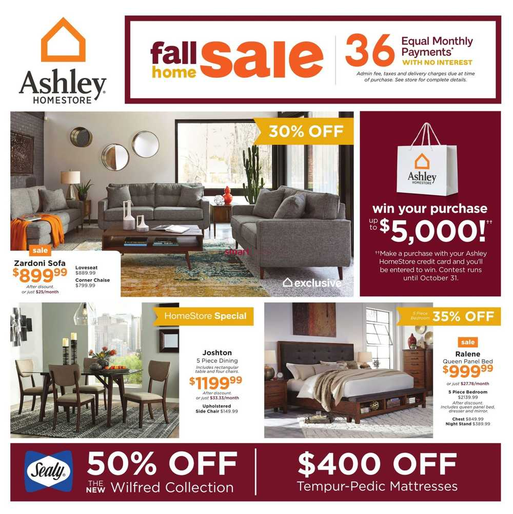 Ashley Homestore On Flyer September Jpg 2703x2710 Ashley Furniture Coupons  March 2017