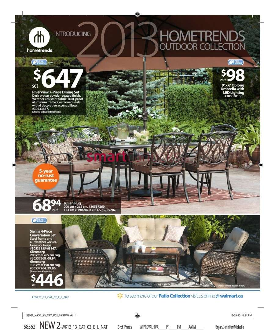 Walmart Canada Outdoor Living Flyer: Friday, April 12 to ... on Walmart Outdoor Living id=62362