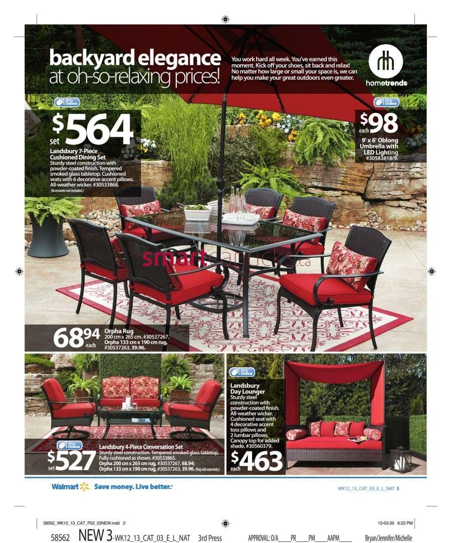 Walmart Canada Outdoor Living Flyer: Friday, April 12 to ... on Walmart Outdoor Living id=63519