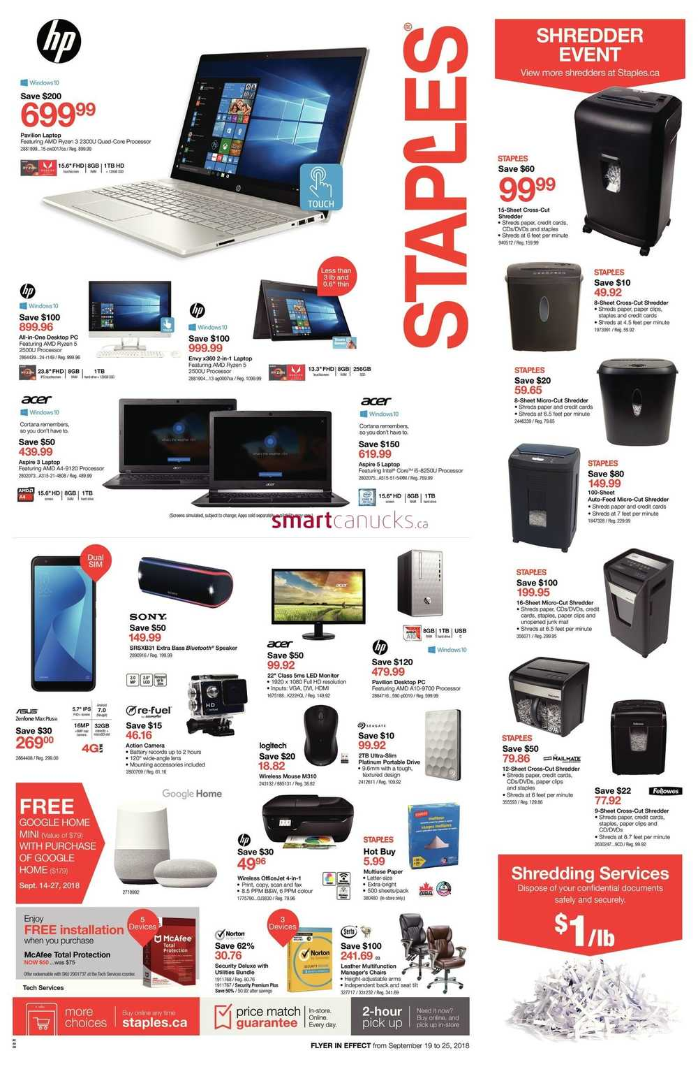 Staples canada flyers staples flyer september 19 to 25 reheart Images