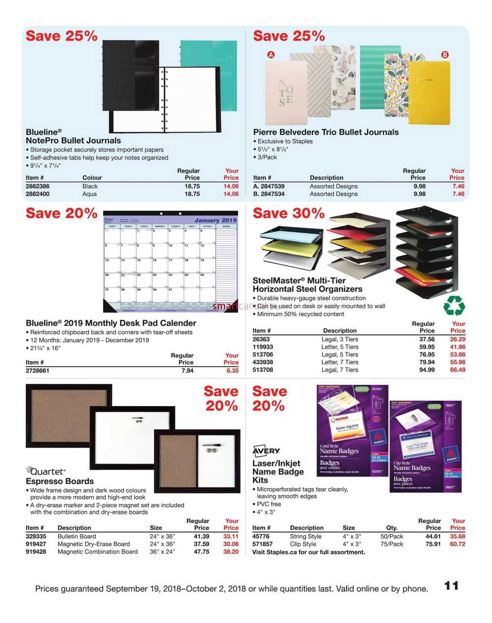 Staples Business Flyer September 19 to October 2