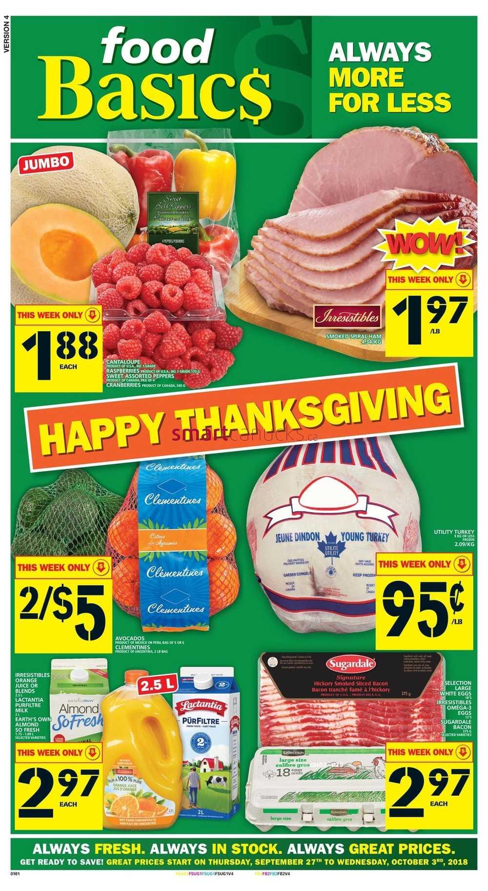 Food Basics Canada Flyers