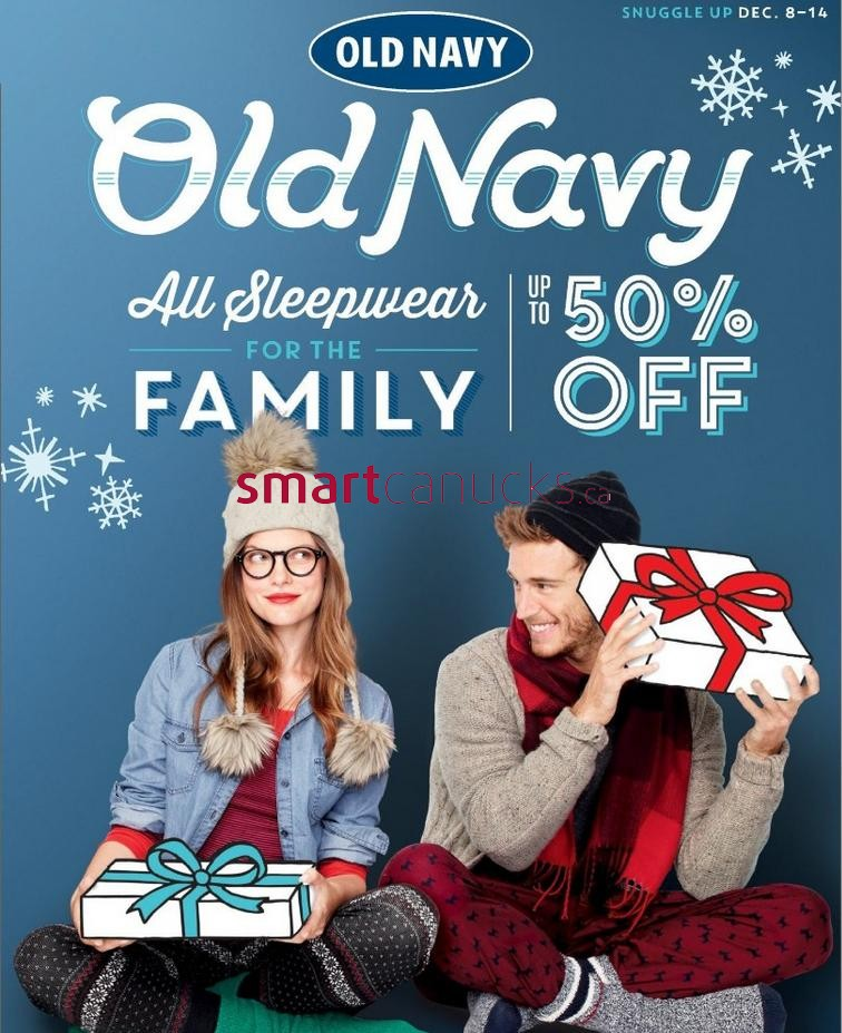 Old Navy flyer December 8 to 14