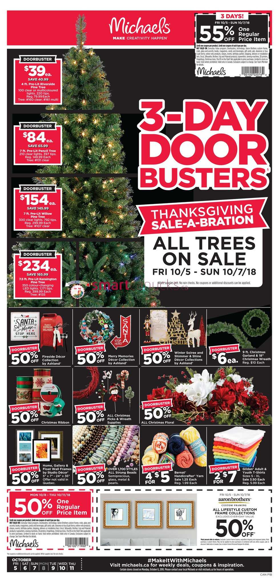 michaels flyer october 5 to 11 - Michaels Christmas Hours