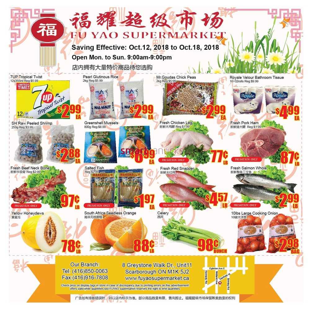 fu yao supermarket canada flyers