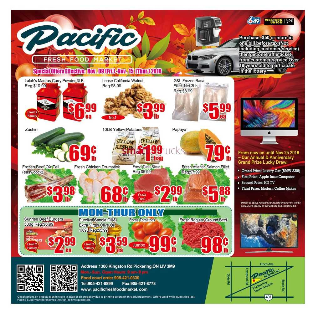 Pacific food market flyer