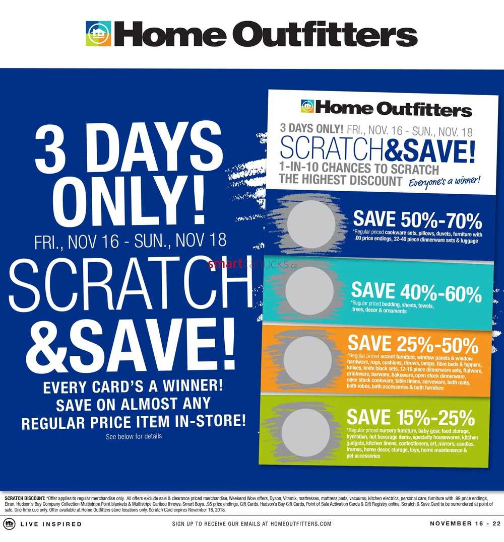 Home Outfitters Flyer November 15 To 21