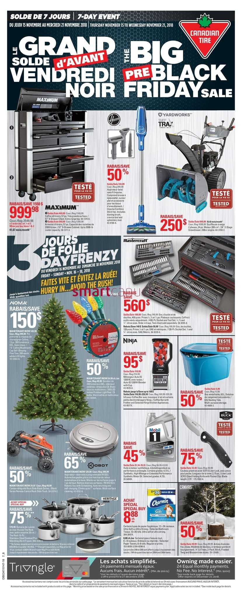 Canadian Tire (QC) Pre-Black Friday Flyer November 15 to 21