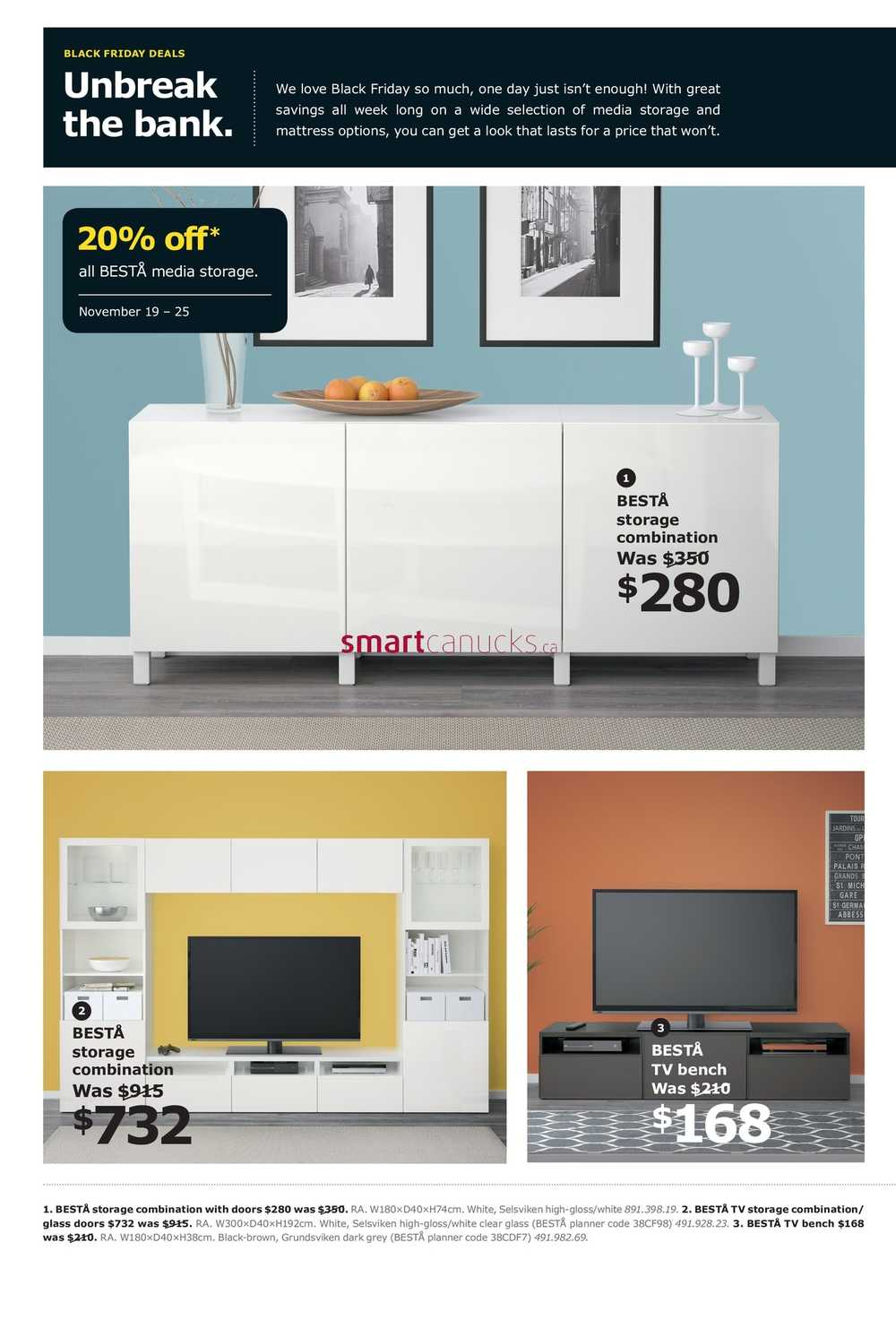 Ikea Black Friday Flyer November 19 To 25 2018