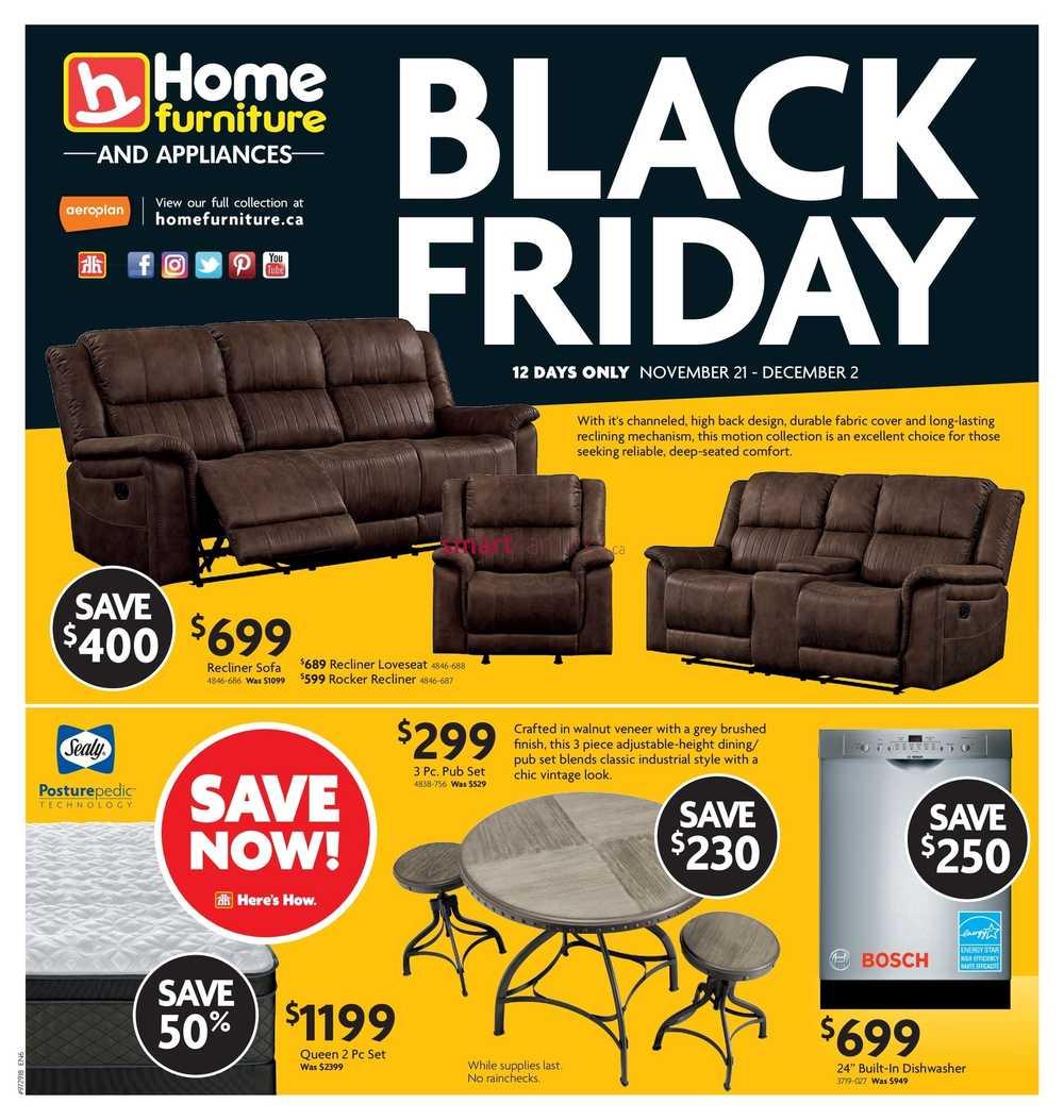 Home Furniture On Black Friday Flyer November 21 To