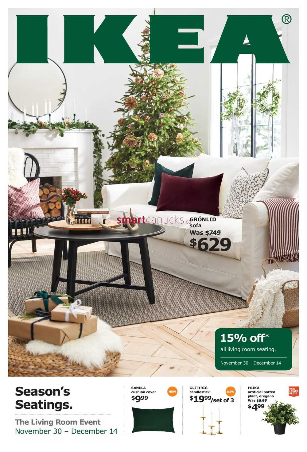 Ikea The Living Room Event Flyer November 12 to December 12