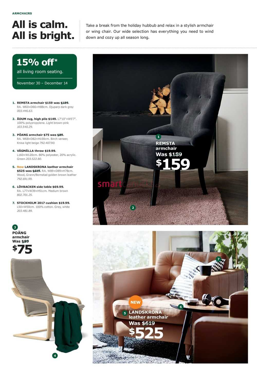 Ikea The Living Room Event Flyer November 8 to December 8