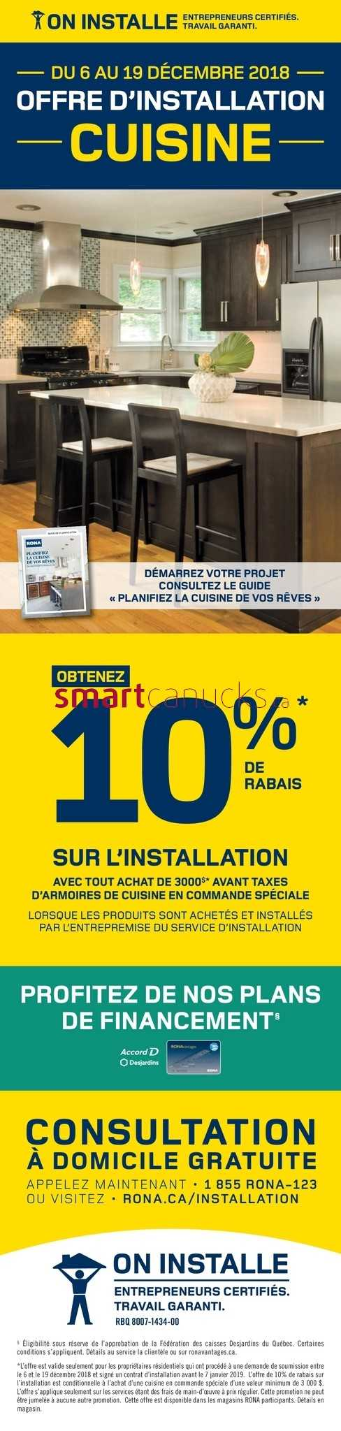 Carte Rona Accord D.Rona Qc Flyer December 6 To 12