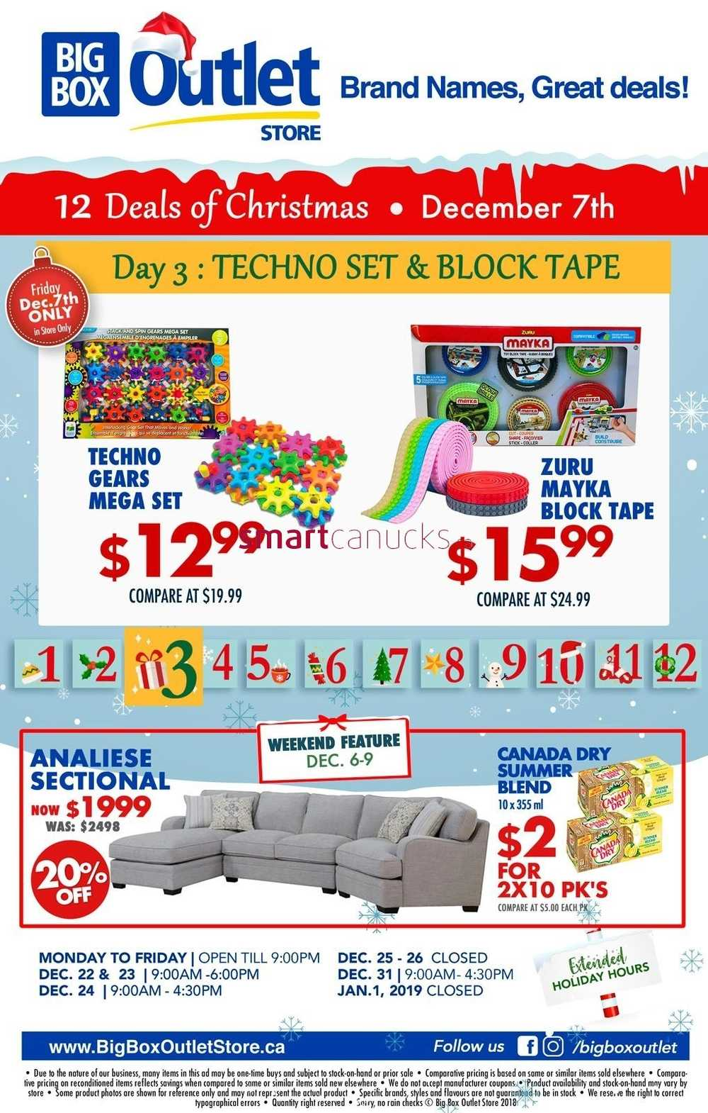 big box outlet store one day sale flyer december 7