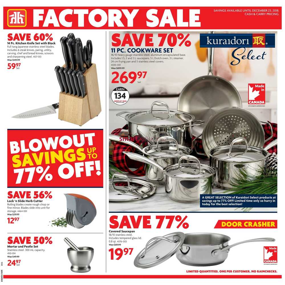 Home Hardware (ON) Factory Sale Flyer December 12 To 23