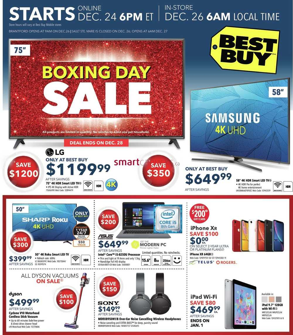 Best Buy Boxing Day Flyer December 26 2018 To January 3 2019 Best Buy Flyer