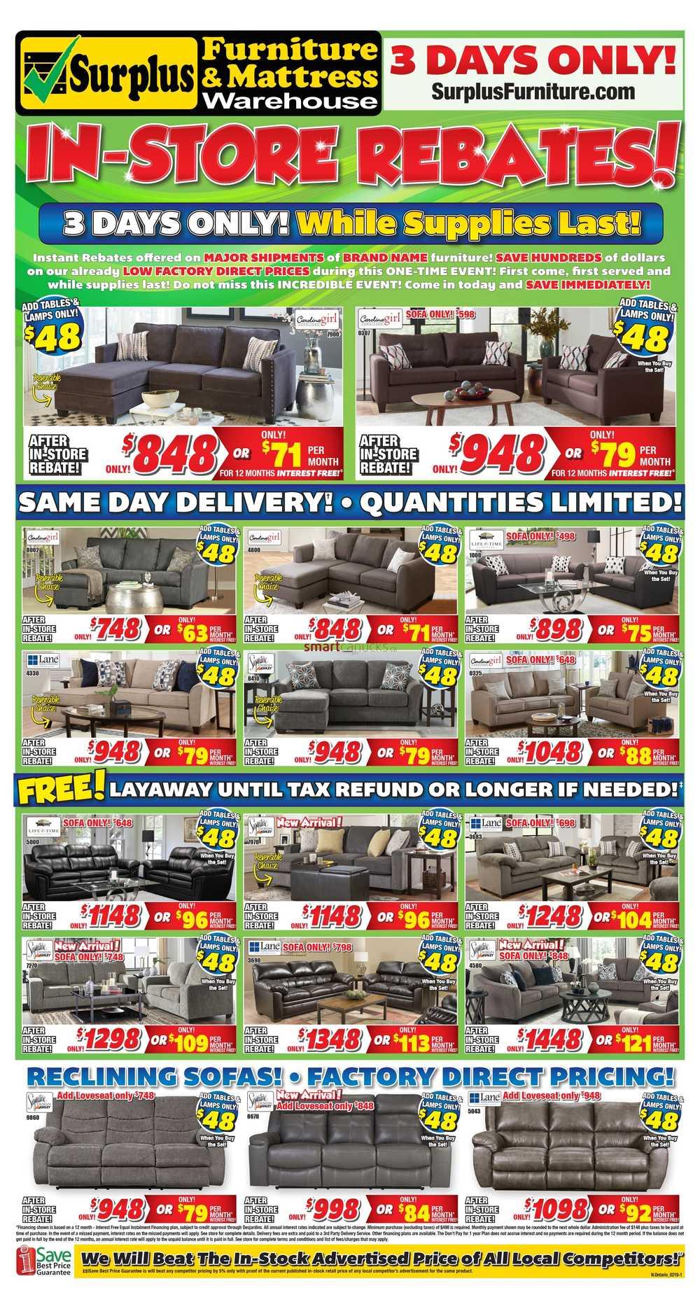 Surplus Furniture & Mattress Warehouse (Sault Ste Marie