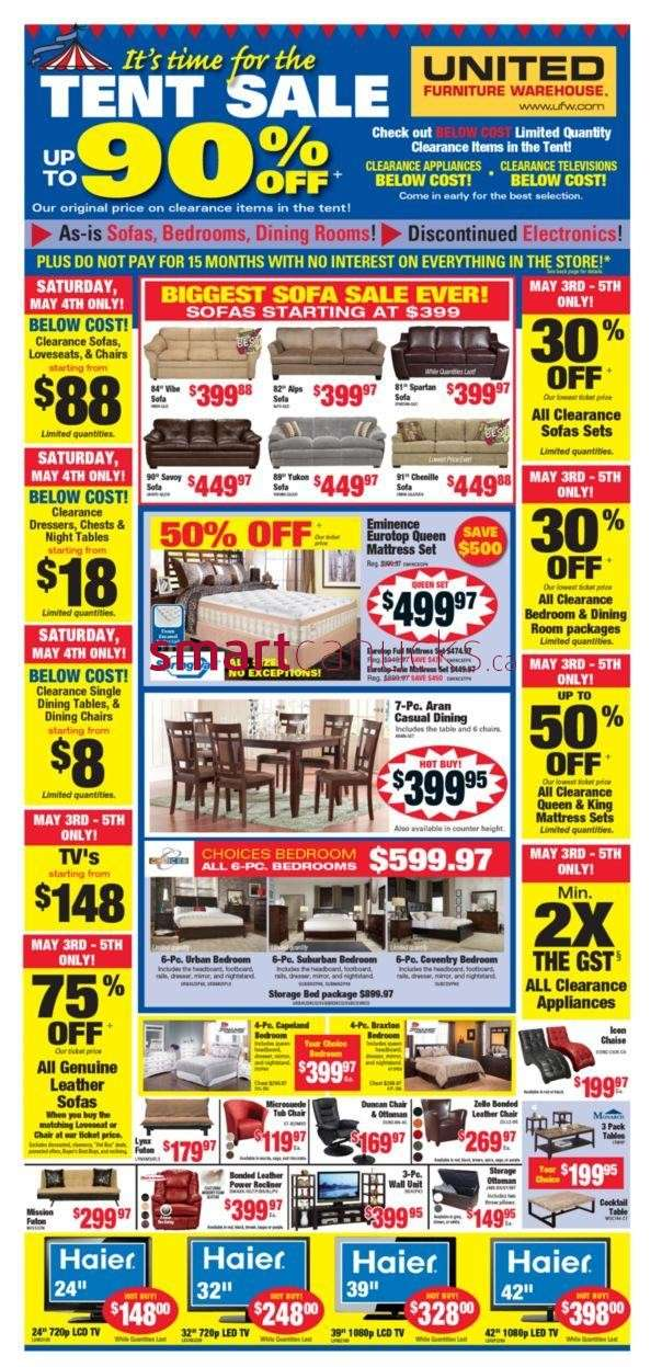 United Furniture Warehouse United Furniture Warehouse Flyer May 2 To