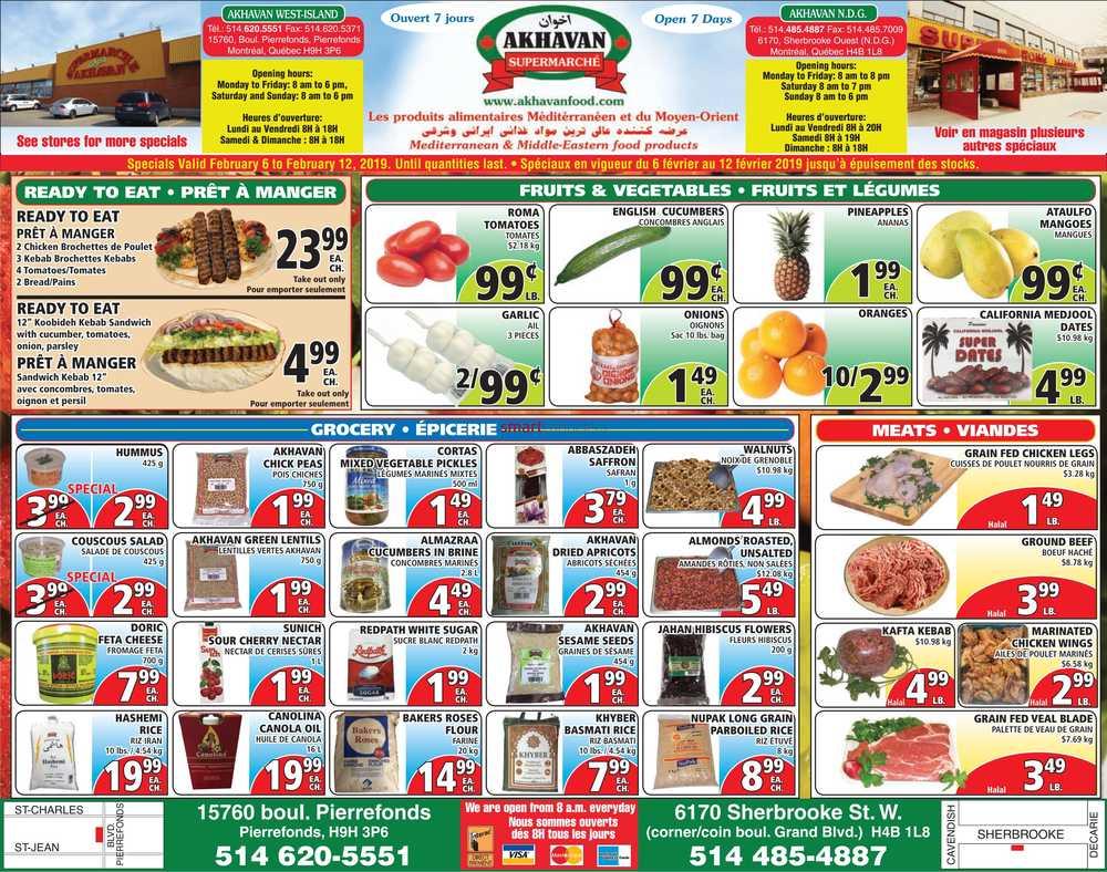 Akhavan Supermarche Canada Flyers