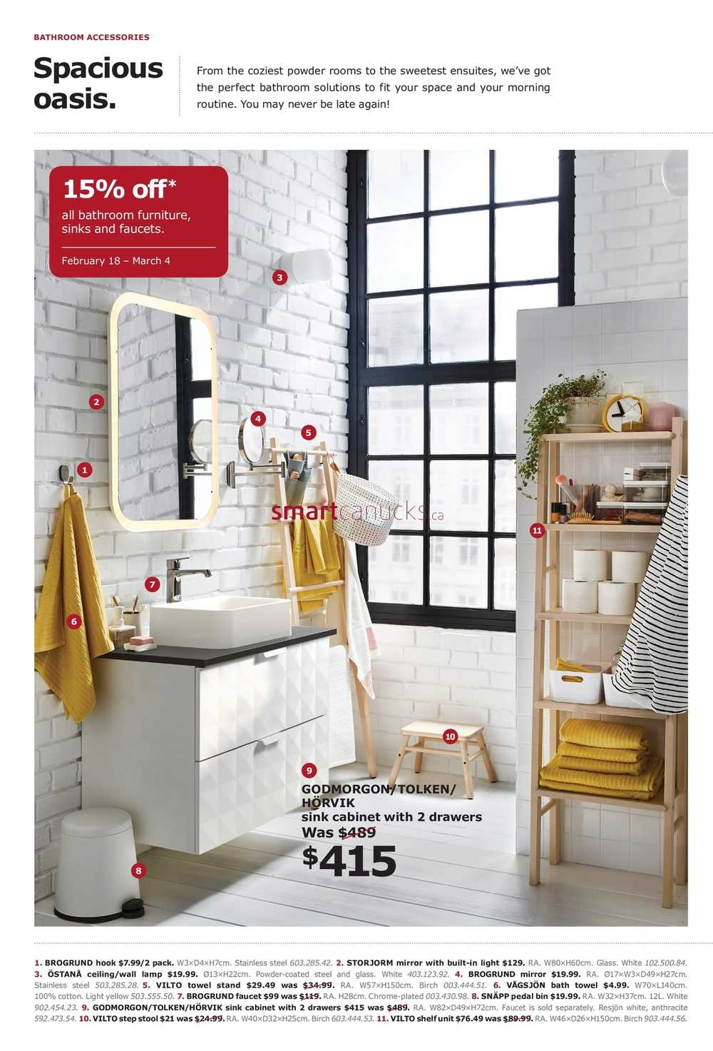 Ikea The Bathroom Event Flyer February 9 to March 9