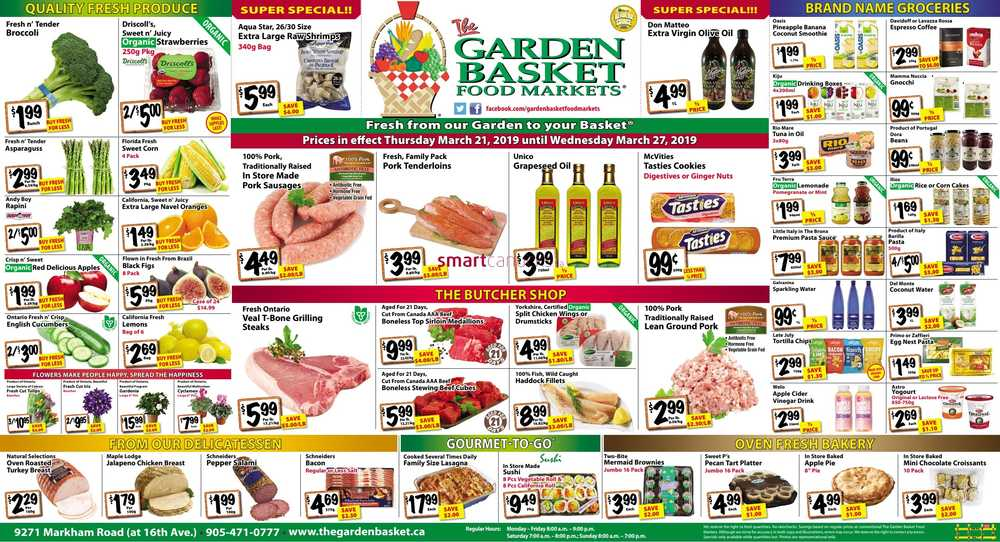 the garden basket canada flyers