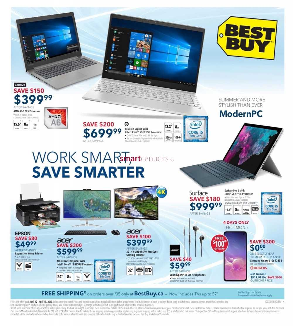 34fba8a46e5 Best Buy Flyer April 12 to 18