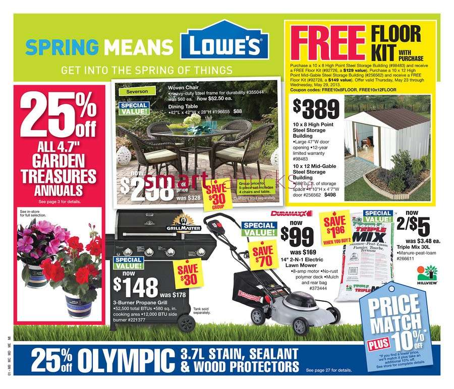 Lowe's flyer May 23 to 29