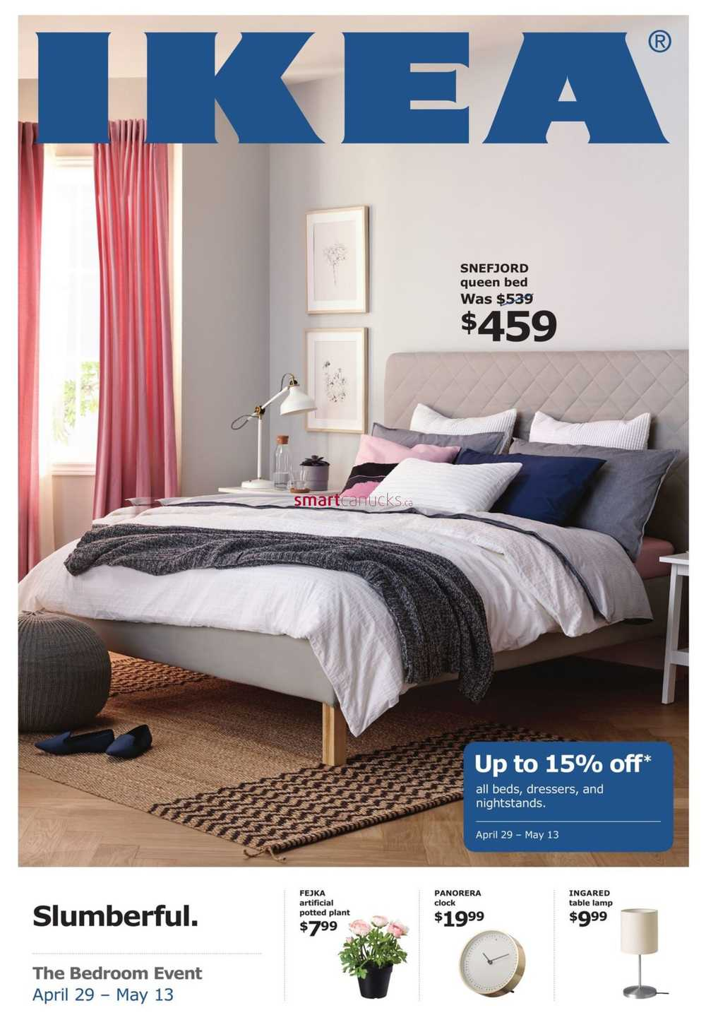 Ikea The Bedroom Event Flyer April 10 to May 10
