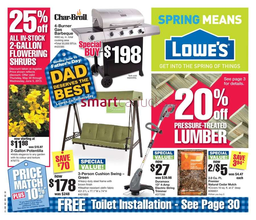Lowe's flyer May 30 to Jun 5