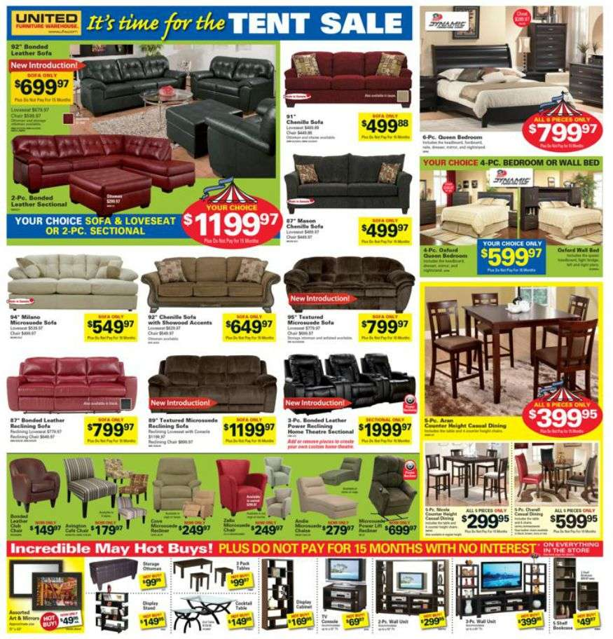 United Furniture Warehouse Flyer May 10 To 13