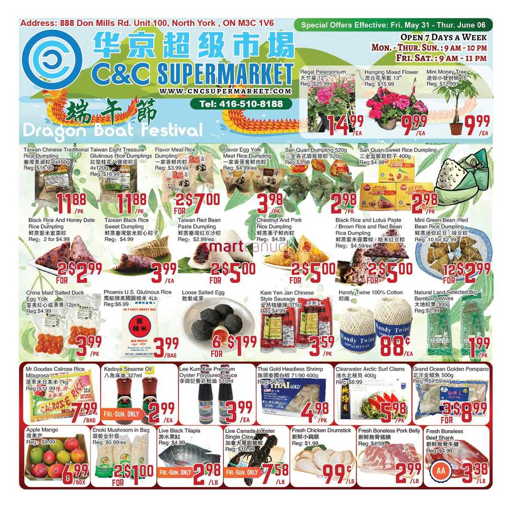 c and c supermarket flyer