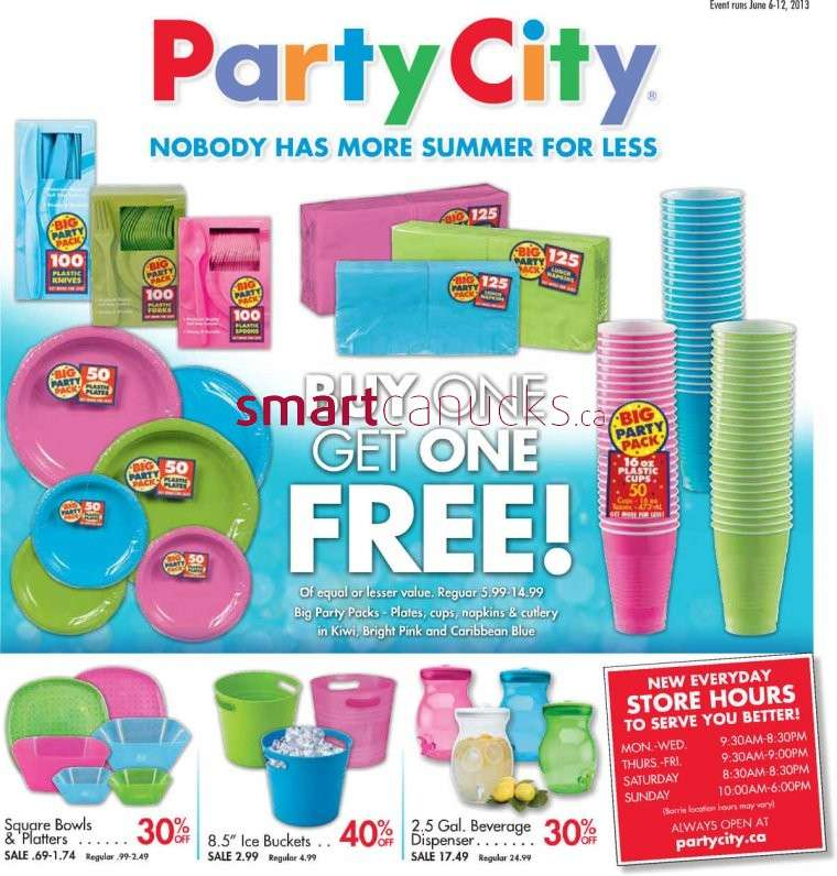 party city flyer jun 6 to 12