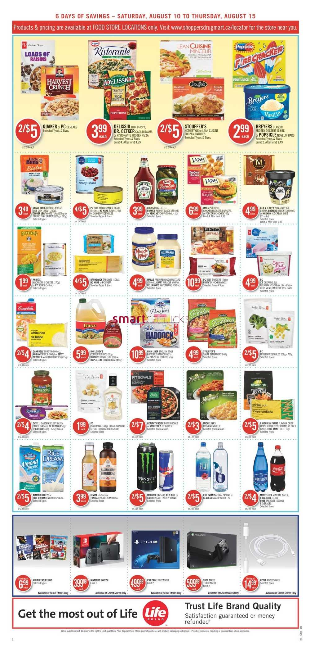 Shoppers Drug Mart (ON) Flyer August 10 to 15