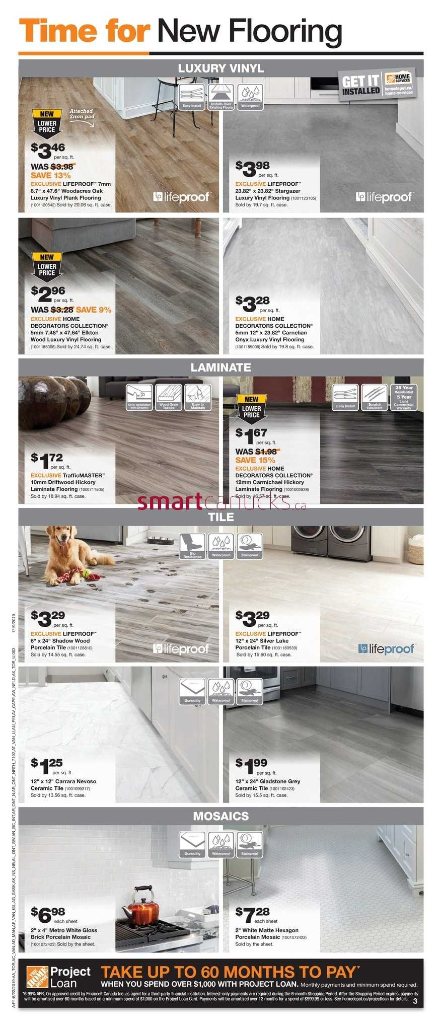 TrafficMaster 32686 Gladstone Oak 7 mm Thick x 7-2//3 W x 50-4//5 L Laminate Flooring 24.24 sq. ft.//case
