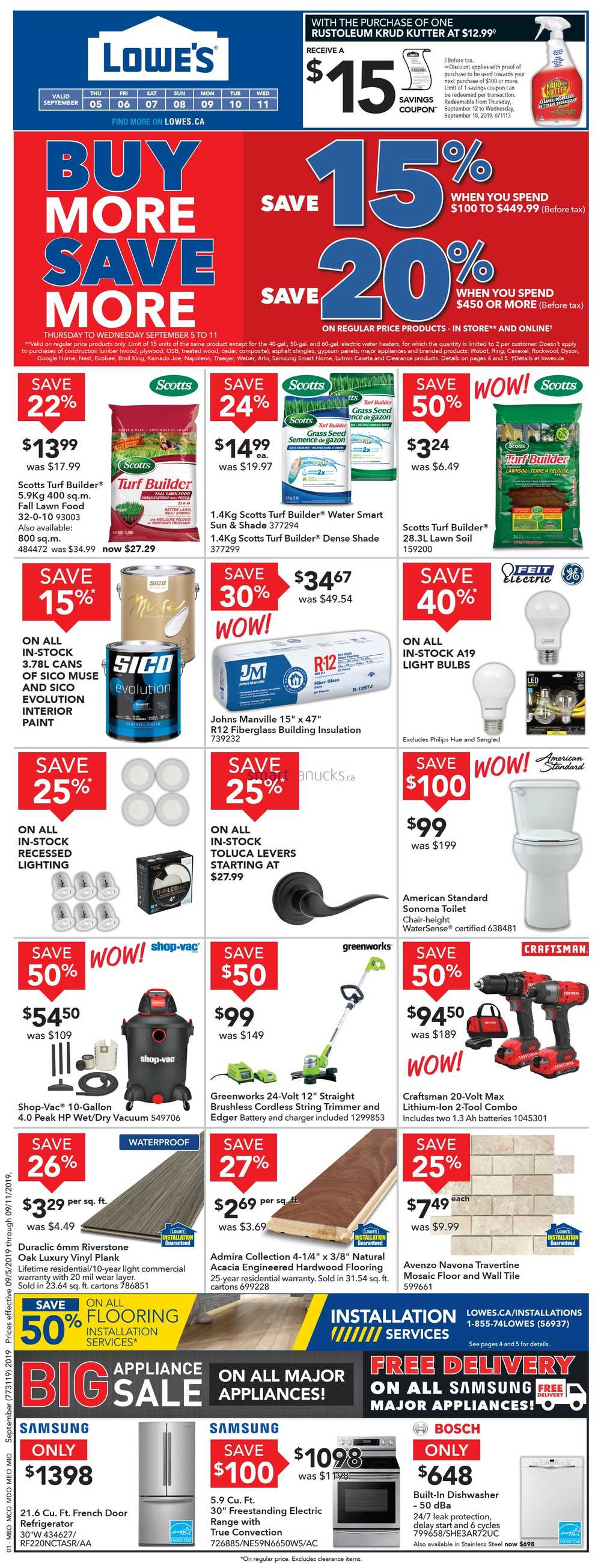 Lowes upcoming flyer